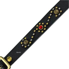 ヴィンアンドエイジ Vin&Age 春夏モデル ブレスレット 黒 ゴールド/赤 フリーサイズ VBL3 HD店