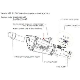アクラポビッチ AKRAPOVIC リペアサイレンサー ASZ-TYPE E1仕様 10年 YZF-R6 チタン M-HAS1Z00202T HD店
