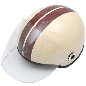 【メーカー在庫あり】 TNK工業 ハーフヘルメット SQ-32 ベージュ/茶 フリーサイズ (58-59cm) 4984679511899 HD