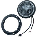 【メーカー在庫あり】 2460 クリアキン Kuryakyn 7インチ(178mm) LED ヘッドライト オービットビジョン
