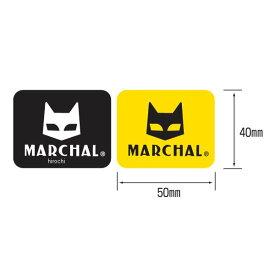【メーカー在庫あり】 マーシャル MARCHAL ステッカー 幅50mmx高さ40mm 黄/黒 中 2枚入り 800-7016 HD店