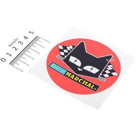 【メーカー在庫あり】 マーシャル MARCHAL ステッカー 丸形 直径80mm 赤/黄/黒 800-7051 HD店