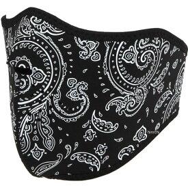 ライズ ハーフフェイスマスク ネオプレン ペイズリー 白 フリーサイズ 4527625099470 HD店