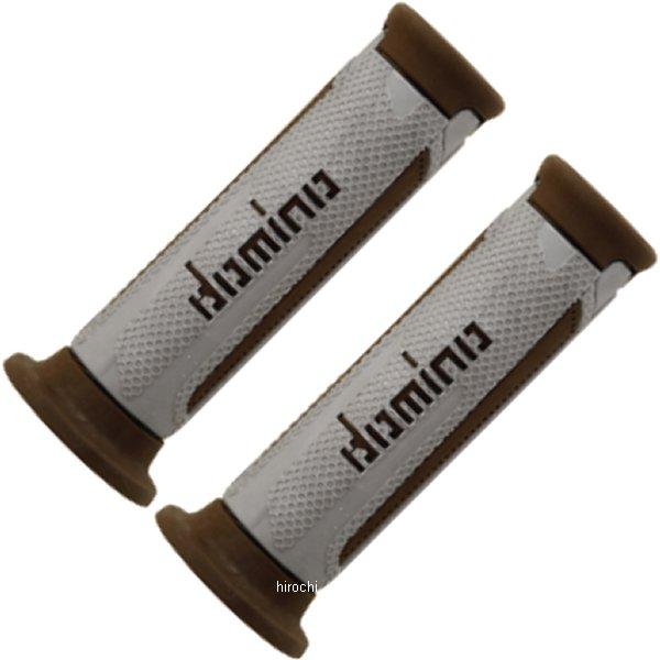 【メーカー在庫あり】 ドミノ domino グリップ オンロード ツーリスモ 121mm シルバー/茶 左右セット A35041C6459 HD店