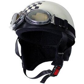 【メーカー在庫あり】 モトボワットBB Moto Boite ビンテージヘルメット パール白/チェッカー フリーサイズ(58-60cm未満) 10675090 HD店
