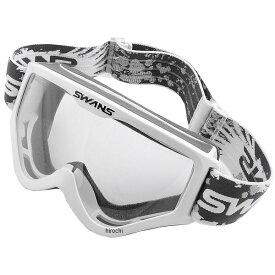 スワンズ SWANS メガネ対応ダートゴーグル 白 (クリアレンズ) MX-797-PET W HD店