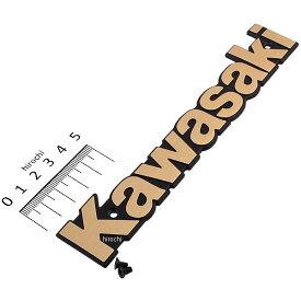 【メーカー在庫あり】 ピーエムシー PMC タンクエンブレム KAWASAKI 82年-84年 Z1000、Z1100J ゴールド 81-1229 HD店