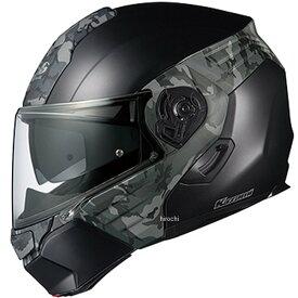 【メーカー在庫あり】 オージーケーカブト OGK KABUTO システムヘルメット KAZAMI CAMO フラットブラック/グレー Mサイズ 4966094571665 HD店