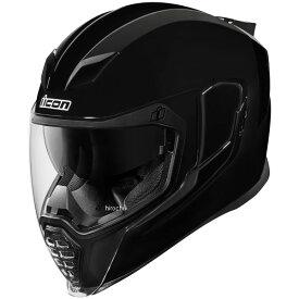【USA在庫あり】 アイコン ICON フルフェイスヘルメット Airflite Gloss 黒 Lサイズ(59cm-60cm) 0101-10857 HD店