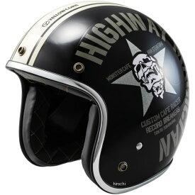 イエローコーン YeLLOW CORN 2018年秋冬モデル ジェットヘルメット 黒 フリーサイズ YBJH-003 HD店