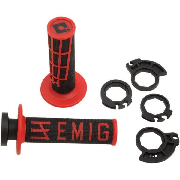 【メーカー在庫あり】 オーディーアイ グリップ ODI GRIP MXグリップ V2 ロックオン EMIG 黒/赤 H36EMBR HD店