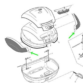 ジビ GIVI モノロックケース用 リフレクター(左右セット)裏紙付 Z1394 66492 HD店