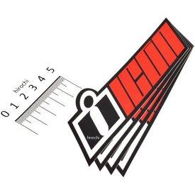 【USA在庫あり】 アイコン ICON デカール DOUBLE UP 4枚 赤 4320-1551 HD店