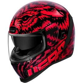 アイコン ICON 2019年秋冬モデル フルフェイスヘルメット AIRFORM LYCAN 赤 2XLサイズ 0101-12655 HD店