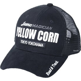 イエローコーン YeLLOW CORN 2020年春夏モデル メッシュキャップ 黒/アイボリー YC-008 HD店