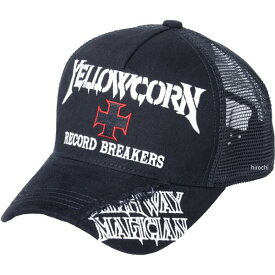 イエローコーン YeLLOW CORN 2020年春夏モデル メッシュキャップ 黒/アイボリー YC-010 HD店