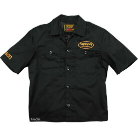 バンソン VANSON 2020年春夏モデル ワークシャツ 黒/イエロー Mサイズ VS20108S HD店