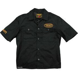 バンソン VANSON 2020年春夏モデル ワークシャツ 黒/イエロー 2XLサイズ VS20108S HD店