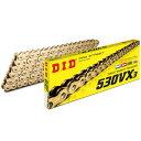 【メーカー在庫あり】 DID 大同工業 チェーン 530VX3シリーズ ゴールド 120L カシメ 4525516466714 HD店