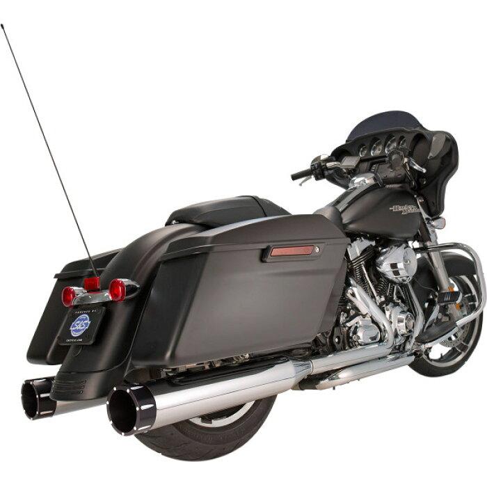 【USA在庫あり】1801-0851550-0623S&SサイクルS&SCycle4.5インチスリップオンマフラートレーサークローム/黒