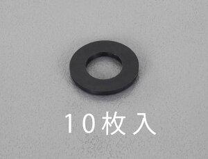 【メーカー在庫あり】 エスコ(ESCO) M4/4.3x12x1.0mm 平ワッシャー TPR製/黒/10枚 000012250784 HD