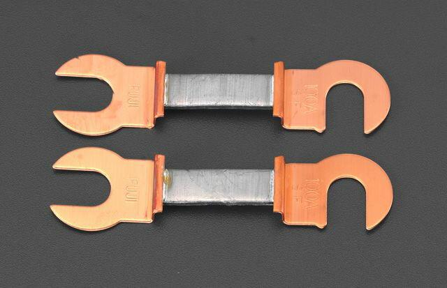【メーカー在庫あり】 エスコ ESCO 30A/55mm 銅つめ付ヒューズ(2本) 000012088574 HD
