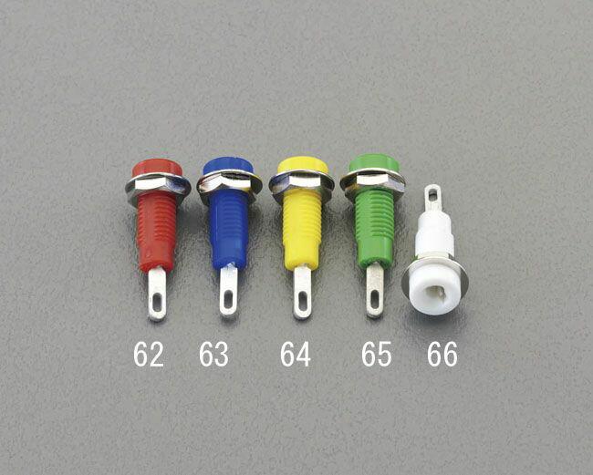 【メーカー在庫あり】 エスコ ESCO φ6.1x5mm穴/5A チップジャック青 000012217051 HD