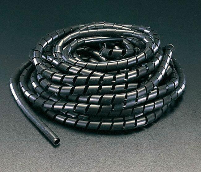 【メーカー在庫あり】 エスコ ESCO 1.5mmx10m スパイラルチューブ 黒 000012065060 HD
