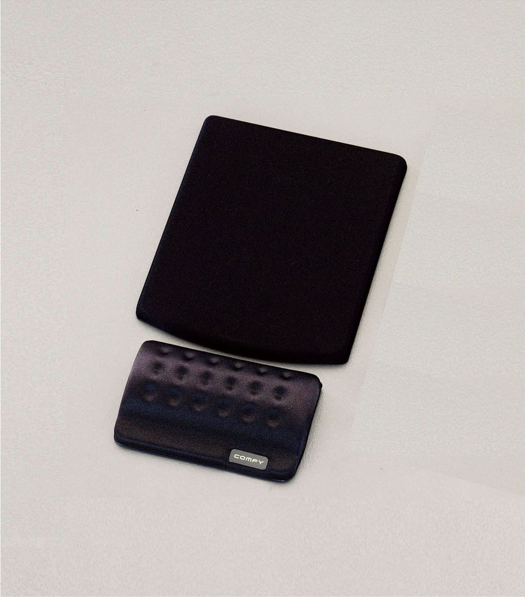 【メーカー在庫あり】 エスコ(ESCO) 135x155x10mm リストレスト付 マウスパッド(ブラック) 000012204069 HD