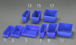 【メーカー在庫あり】 エスコ ESCO 105x300x150mm パーツトレー/ラック棚用(青) EA661DB-7 HD店