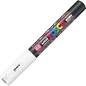 【メーカー在庫あり】 PC1M.1 三菱鉛筆(株) uni 三菱鉛筆/水性顔料マーカー/ポスカ極細/白 PC1M-1 HD