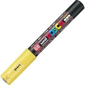 【メーカー在庫あり】 PC1M.2 三菱鉛筆(株) uni 水性顔料マーカー ユニポスカ極細 黄 PC1M-2 HD
