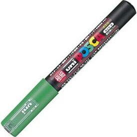 【メーカー在庫あり】 PC1M.6 三菱鉛筆(株) uni 水性顔料マーカー ユニポスカ極細 緑 PC1M-6 HD