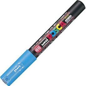 【メーカー在庫あり】 PC1M.8 三菱鉛筆(株) uni 水性顔料マーカー ユニポスカ極細 水色 PC1M-8 HD