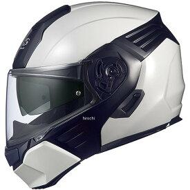 オージーケーカブト OGK KABUTO システムヘルメット KAZAMI ホワイトメタリック/黒 Mサイズ(55cm-56cm) 4966094562229 JP店