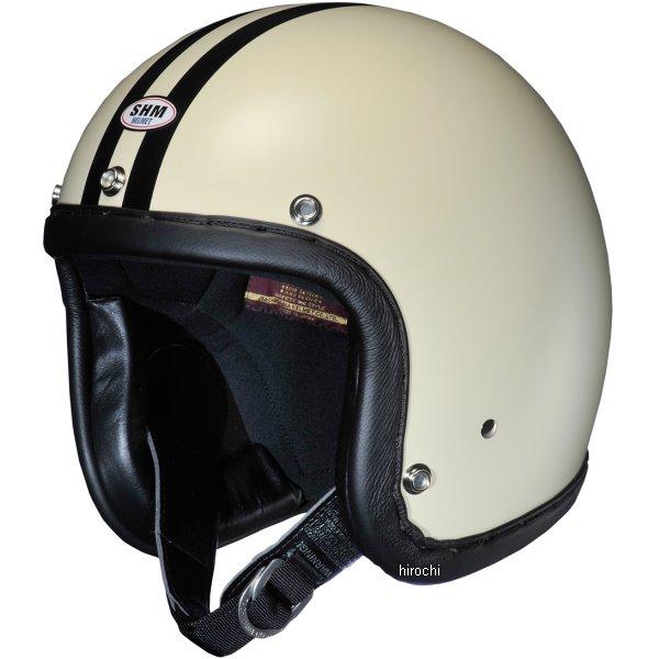 4955004013302 タチバナ SHM ヘルメット ハンドステッチ 2LINE アイボリー/黒 Lサイズ