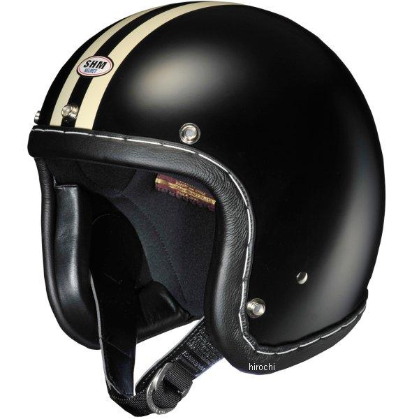 4955004013326 タチバナ SHM ヘルメット ハンドステッチ 2LINE 黒/アイボリー Mサイズ