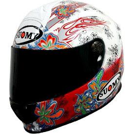 【メーカー在庫あり】 SR00F3 スオーミー SUOMY フルフェイスヘルメット SR-SPORT フラワー 白/赤 XLサイズ(61cm-62cm) SSR00F304 JP店