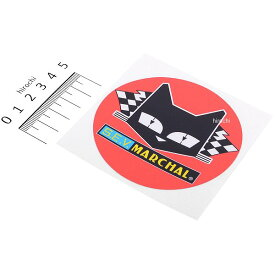 【メーカー在庫あり】 マーシャル MARCHAL ステッカー 丸形 直径80mm 赤/黄/黒 800-7051 JP店