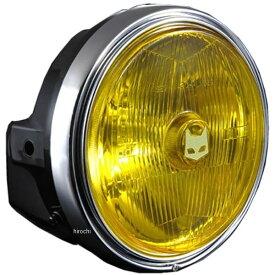 【メーカー在庫あり】 マーシャル MARCHAL ヘッドライト 889 ドライビングランプ フルキット 180φ ホンダ車用 CB750F、CBX400F 黄/黒 800-8003 JP店