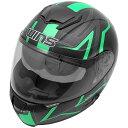 【メーカー在庫あり】 4560385765872 ウインズ WINS フルフェイスヘルメット FF-COMFORT GTZ マットブラック/緑 XLサイズ(59...
