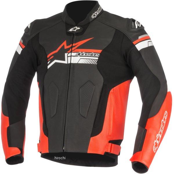 8021506936978 アルパインスターズ Alpinestars 2017年秋冬モデル レザージャケット FUJI 黒/蛍光赤 50サイズ