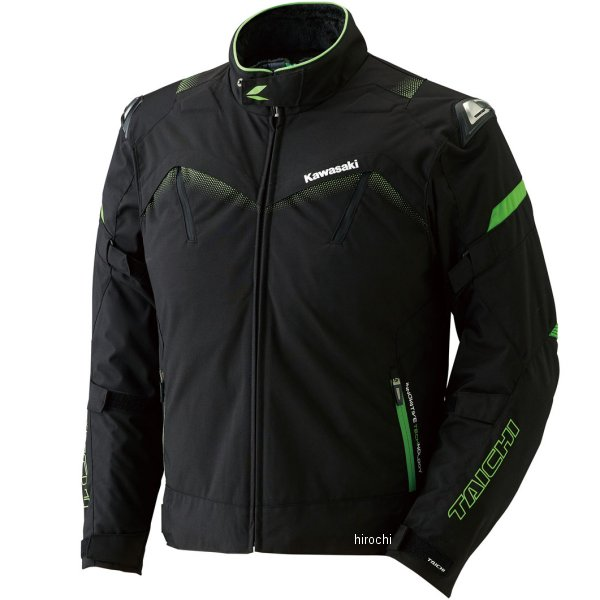 J80012731 カワサキ純正 2017年秋冬モデル カワサキ×RSタイチ アームドオールシーズンジャケット 黒/緑 3Lサイズ