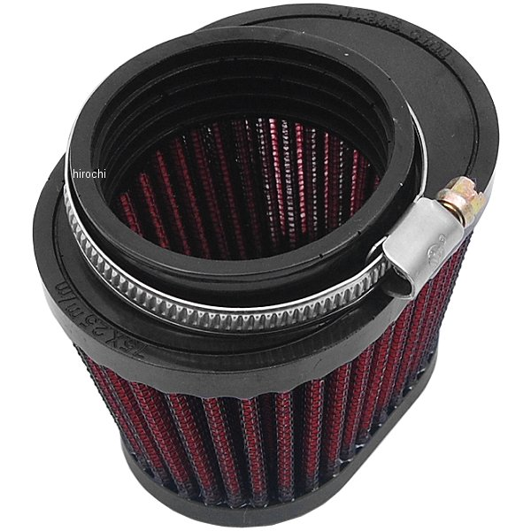 【メーカー在庫あり】 ピーエムシー PMC SMOOTH STREAM オーバル 55φ 汎用 黒/赤 154-536 JP店