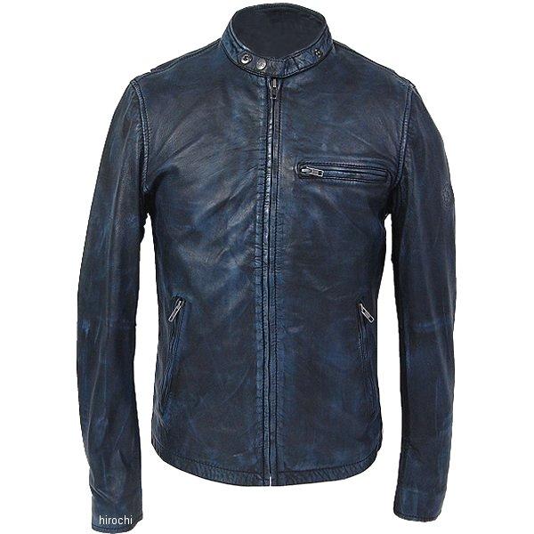 【メーカー在庫あり】 ライズ RIDEZ レザージャケット ACE 黒/青 Mサイズ RLJ101A-M JP