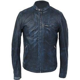 ライズ RIDEZ レザージャケット ACE 黒/青 Lサイズ RLJ101A-L JP店