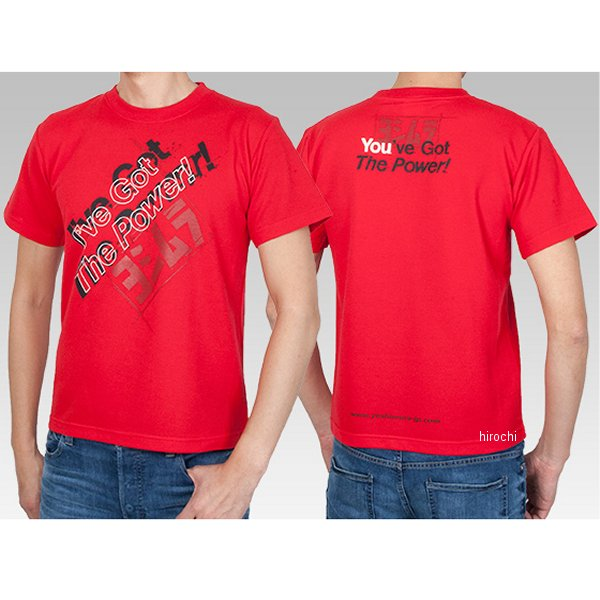 ヨシムラ Tシャツ I've Got The Power! 赤 XLサイズ 900-217-42XL JP店