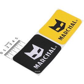 【メーカー在庫あり】 マーシャル MARCHAL ステッカー 幅90mmx高さ72mm 黄/黒 大 2枚入り 800-7015 JP店