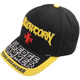 イエローコーン YeLLOW CORN 春夏モデル キャップ 黒/黄 フリーサイズ YC-007 JP店
