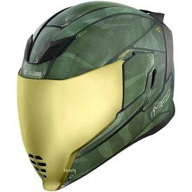 【USA在庫あり】 アイコン ICON フルフェイスヘルメット Airflite Battlescar 2 グリーン Sサイズ 0101-11269 JP店
